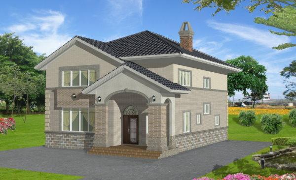 外墙瓷砖效果图 房子外墙瓷砖效果图 民房外墙瓷砖效果图